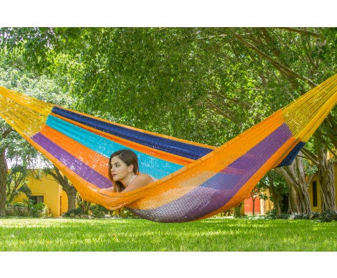 Jumbo Size Outdoor Cotton Hammock in Alegra - All About Camping