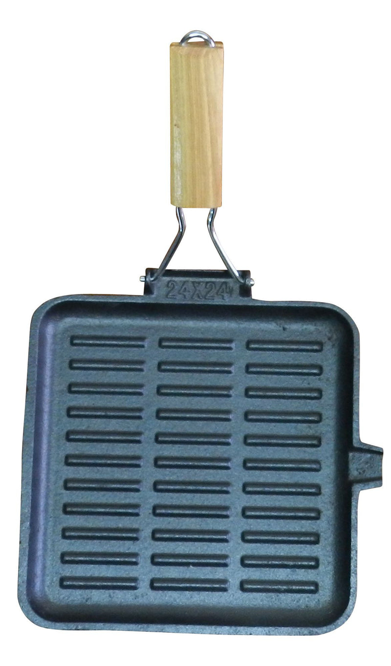 Square 24cm Folding Handle Fry Pan - All About Camping