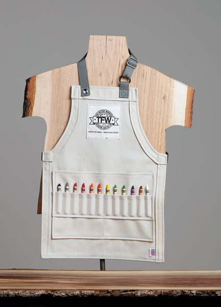 Kids Khaki Bull Denim Apron