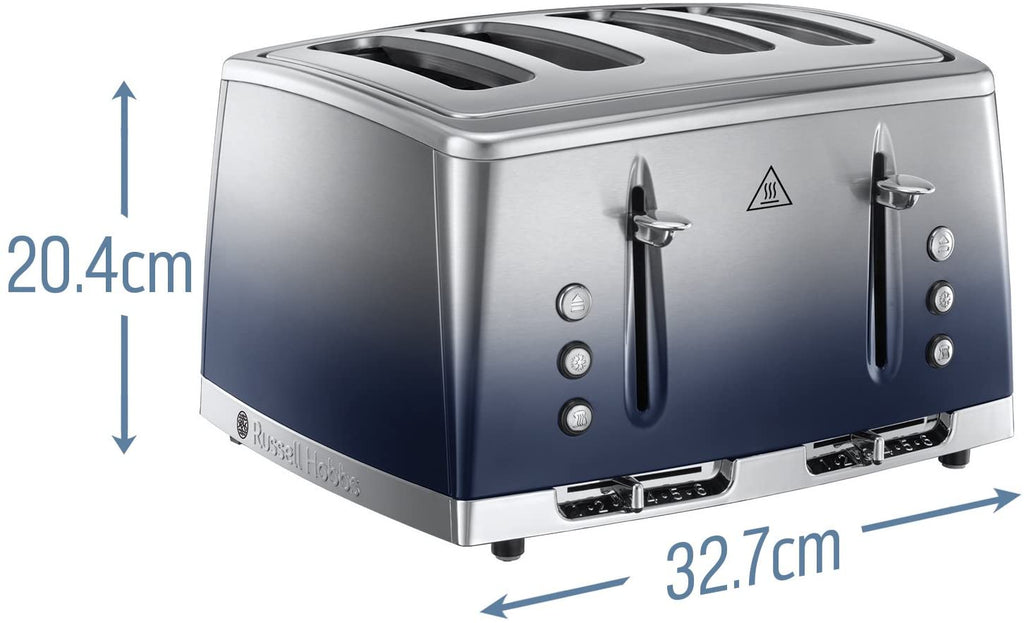 Russell Hobbs Eclipse Polished Stainless Steel Ombre 4 Slice Toaster
