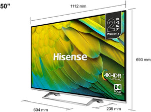 "HISENSE 65"" 4K Smart UHD HDR LED TV 65B7100UK"