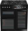 BEKO GAS COOKER 5 BURNER ELECTRIC OVEN 90CM KDVF90K BLACK