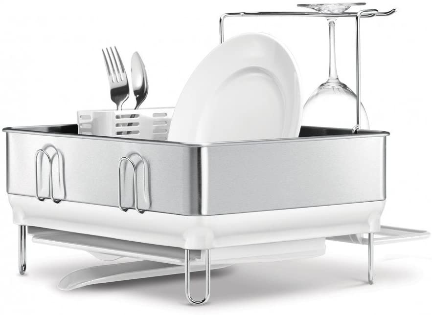 SimpleHuman Compact Steel Frame Dishrack in White - KT1167