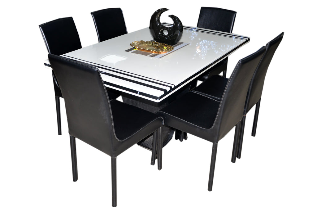 LNC Marble Dining Table (6 Seater) Rectangular