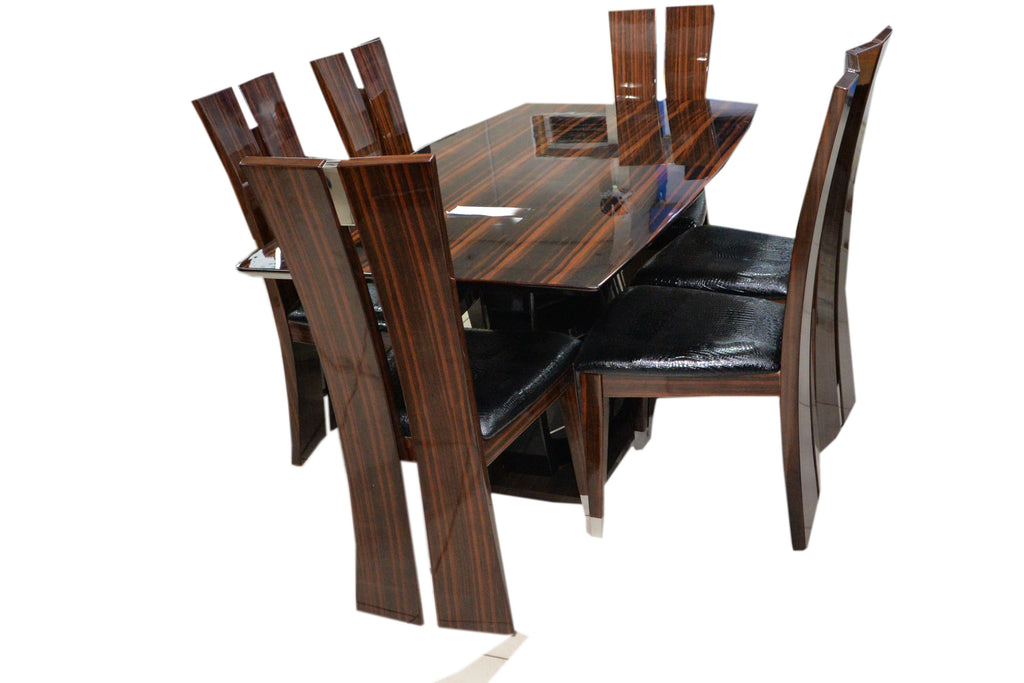 LNC Wooden Dining Table (6 Seater)