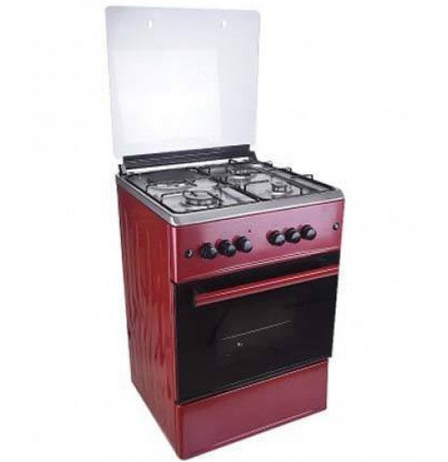 MAXI GAS COOKER 60X60CM 4B M4 RED