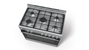 BOSCH 5 BURNER GAS COOKER 90CM with Gas Oven HSB-734357Z