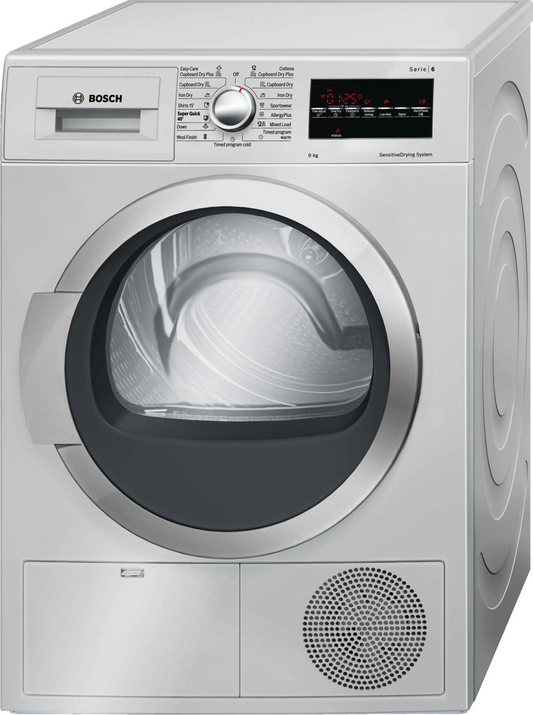 Bosch Series 6 Tumble Dryer 9Kg Silver WTG86400KE