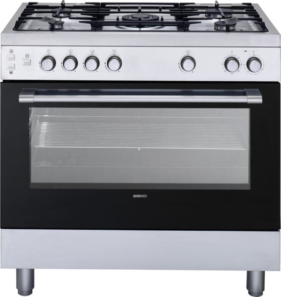 BEKO 5 BURNER GAS COOKER WITH GAS OVEN GE-15110 DS90CM