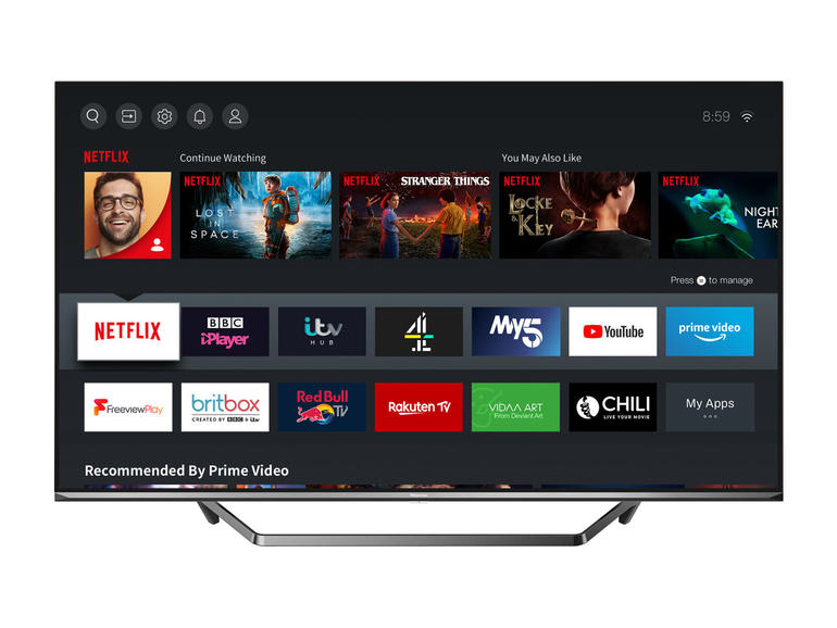 "Hisense 55"" 4K Smart Ultra HD QLED HDR TV 55U7QFTUK"