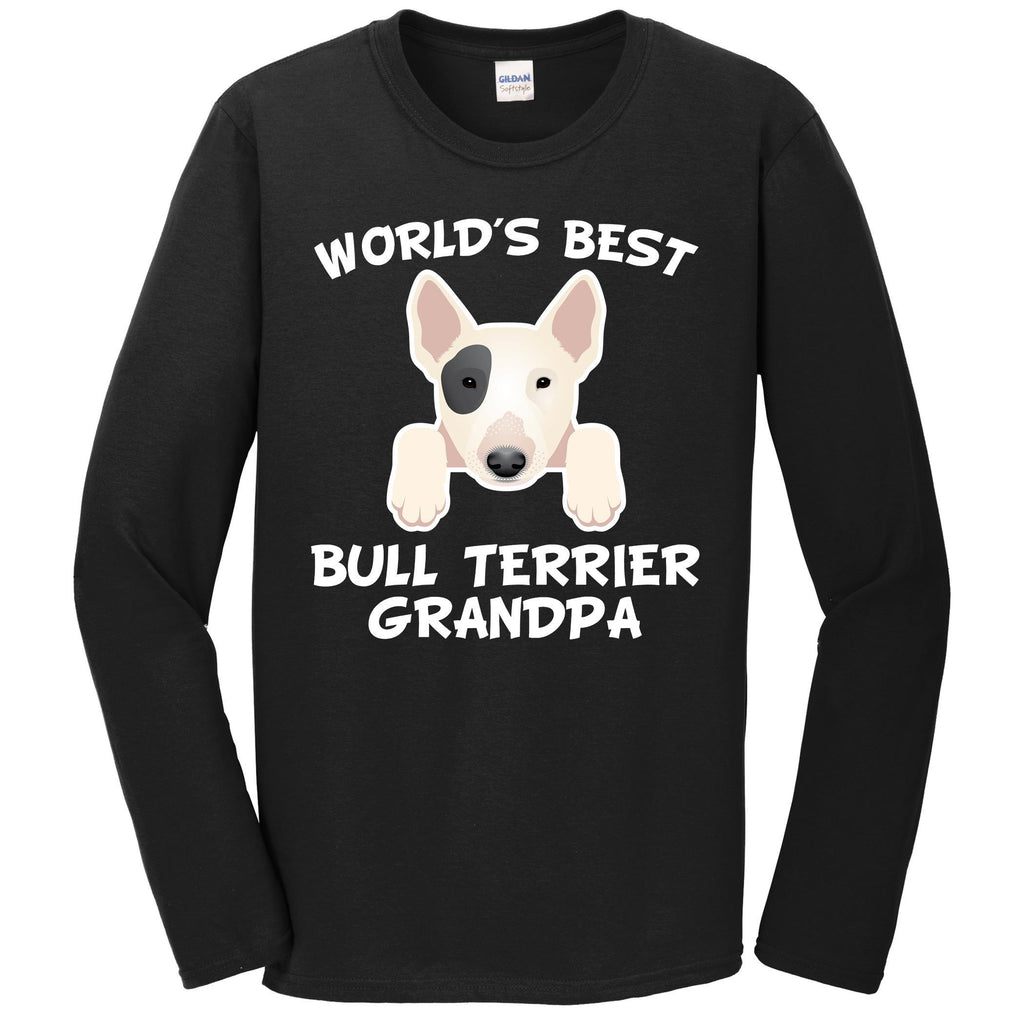 World's Best Bull Terrier Grandpa Dog Granddog Long Sleeve T-Shirt