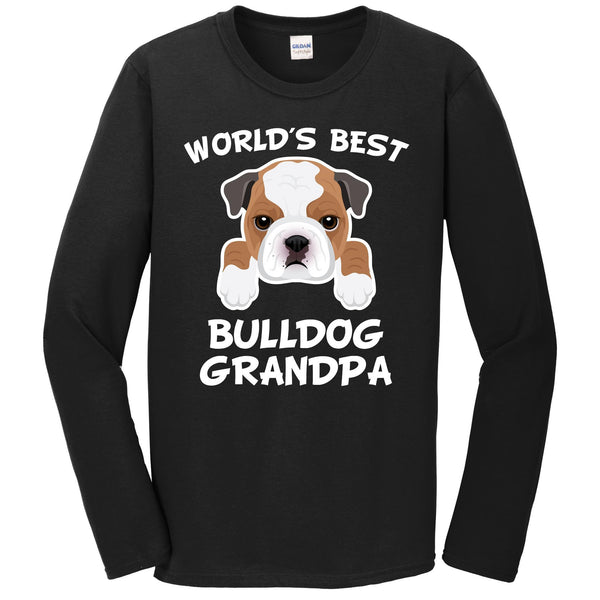 World's Best Bulldog Grandpa Dog Granddog Long Sleeve T-Shirt