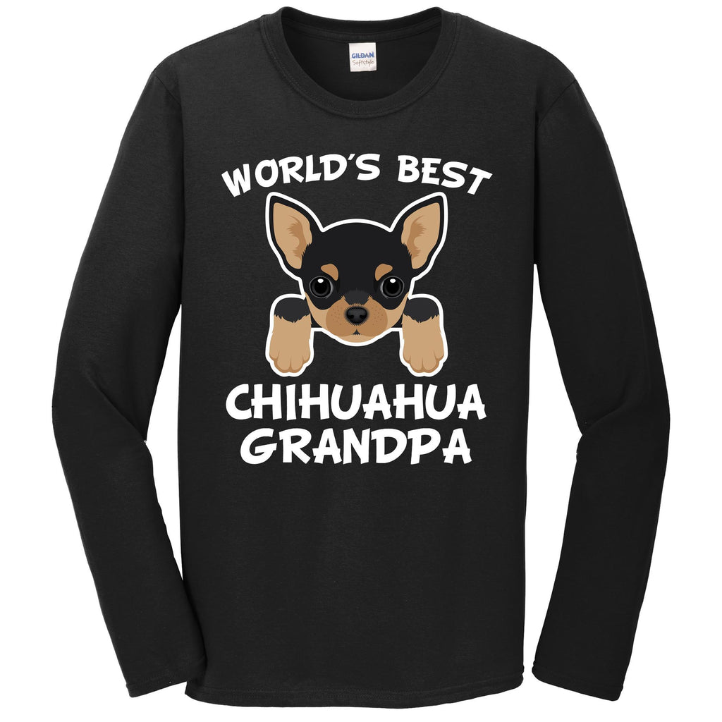 World's Best Chihuahua Grandpa Dog Granddog Long Sleeve T-Shirt