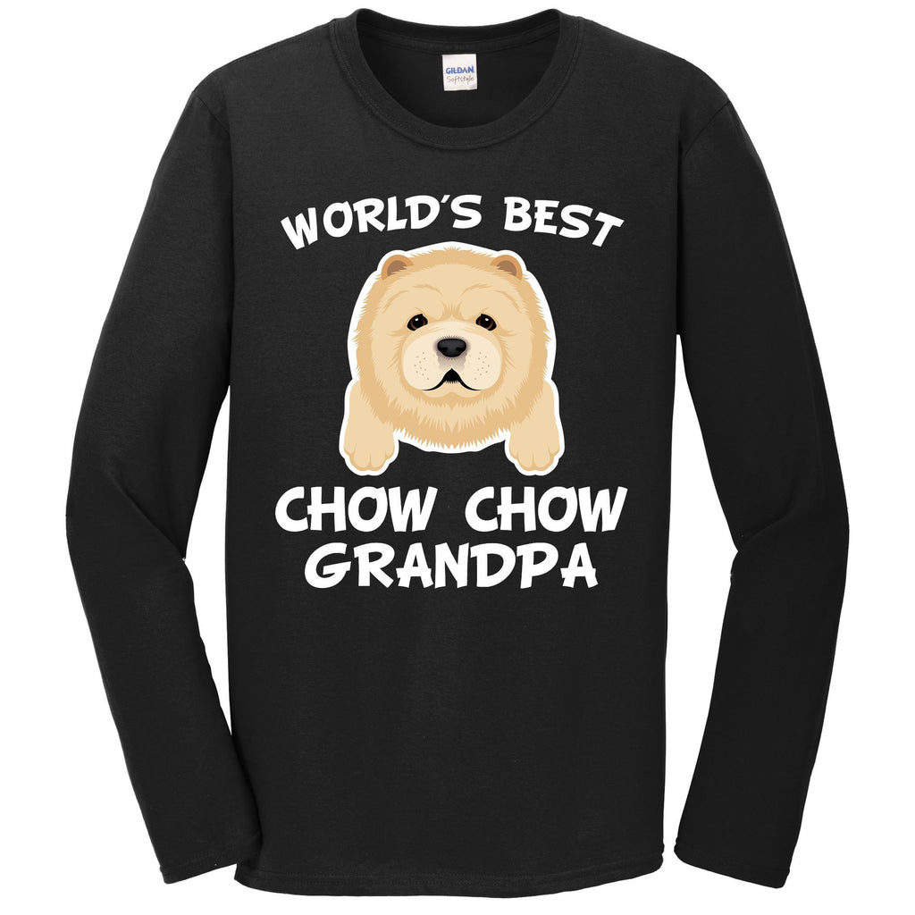 World's Best Chow Chow Grandpa Dog Granddog Long Sleeve T-Shirt