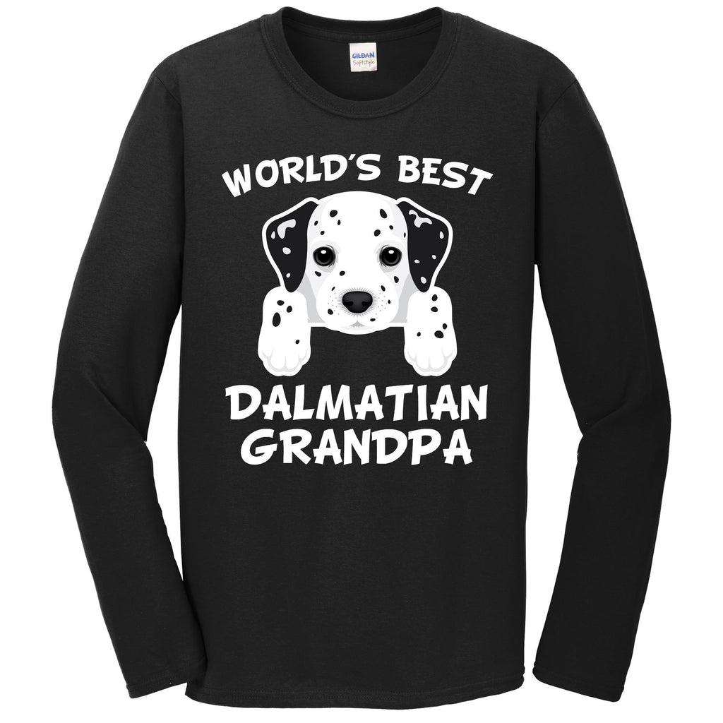 World's Best Dalmatian Grandpa Dog Granddog Long Sleeve T-Shirt