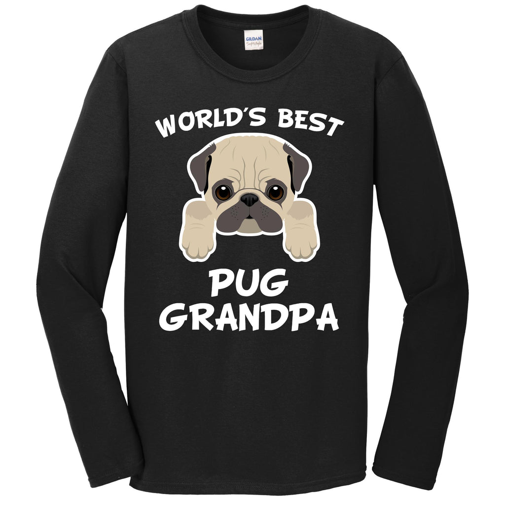World's Best Pug Grandpa Dog Granddog Long Sleeve T-Shirt