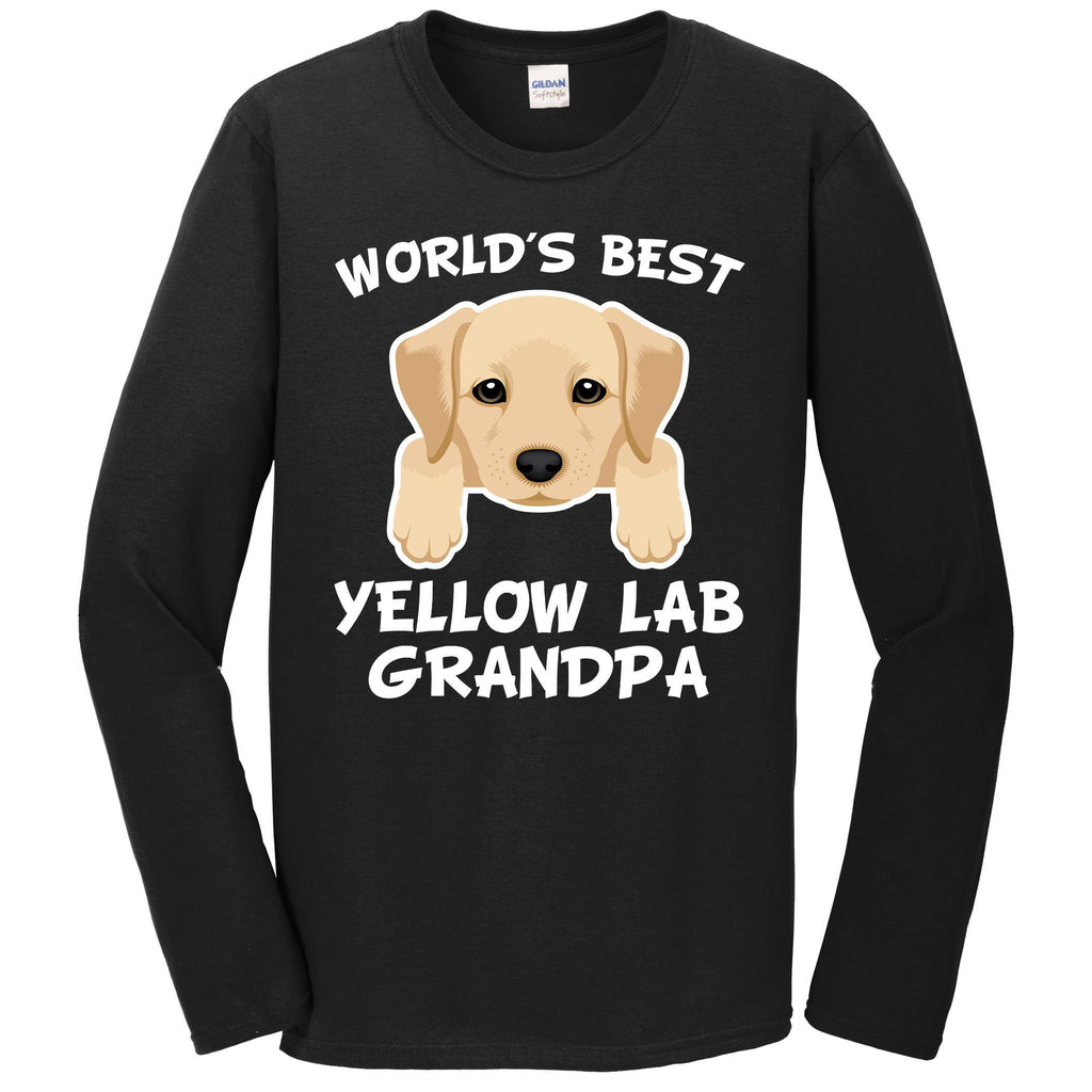 World's Best Yellow Lab Grandpa Dog Granddog Long Sleeve T-Shirt