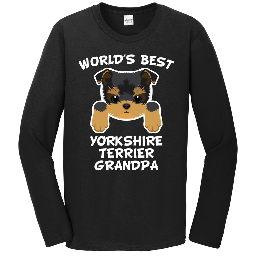 World's Best Yorkshire Terrier Grandpa Dog Granddog Long Sleeve T-Shirt