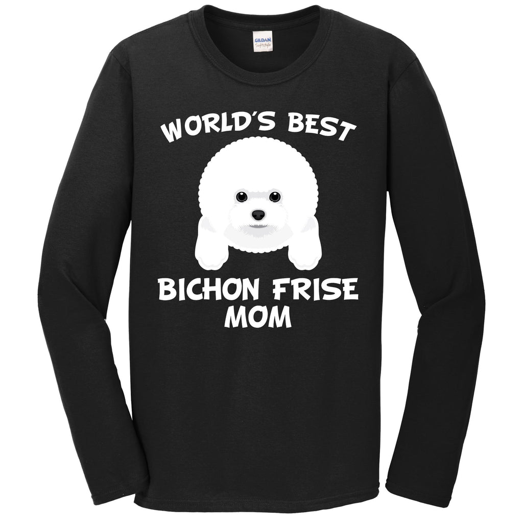 World's Best Bichon Frise Mom Dog Owner Long Sleeve T-Shirt
