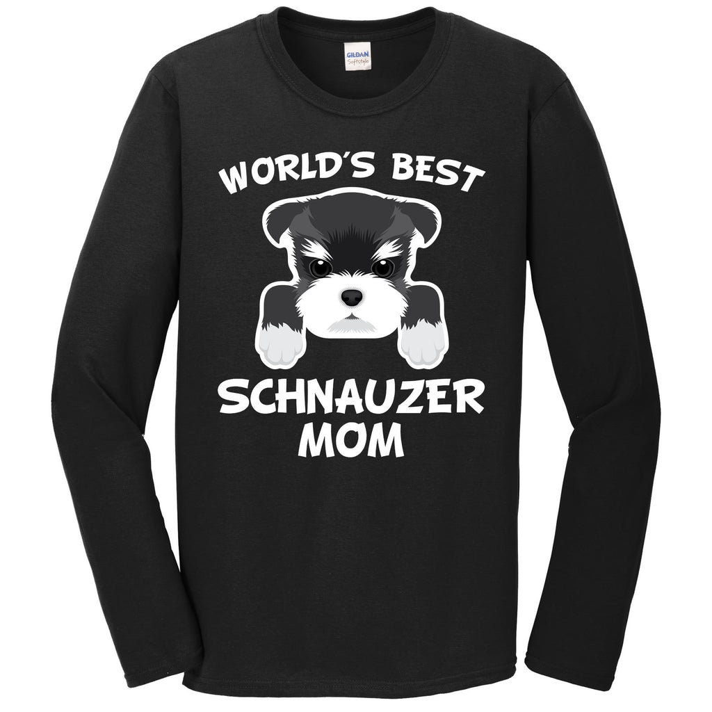 World's Best Schnauzer Mom Dog Owner Long Sleeve T-Shirt