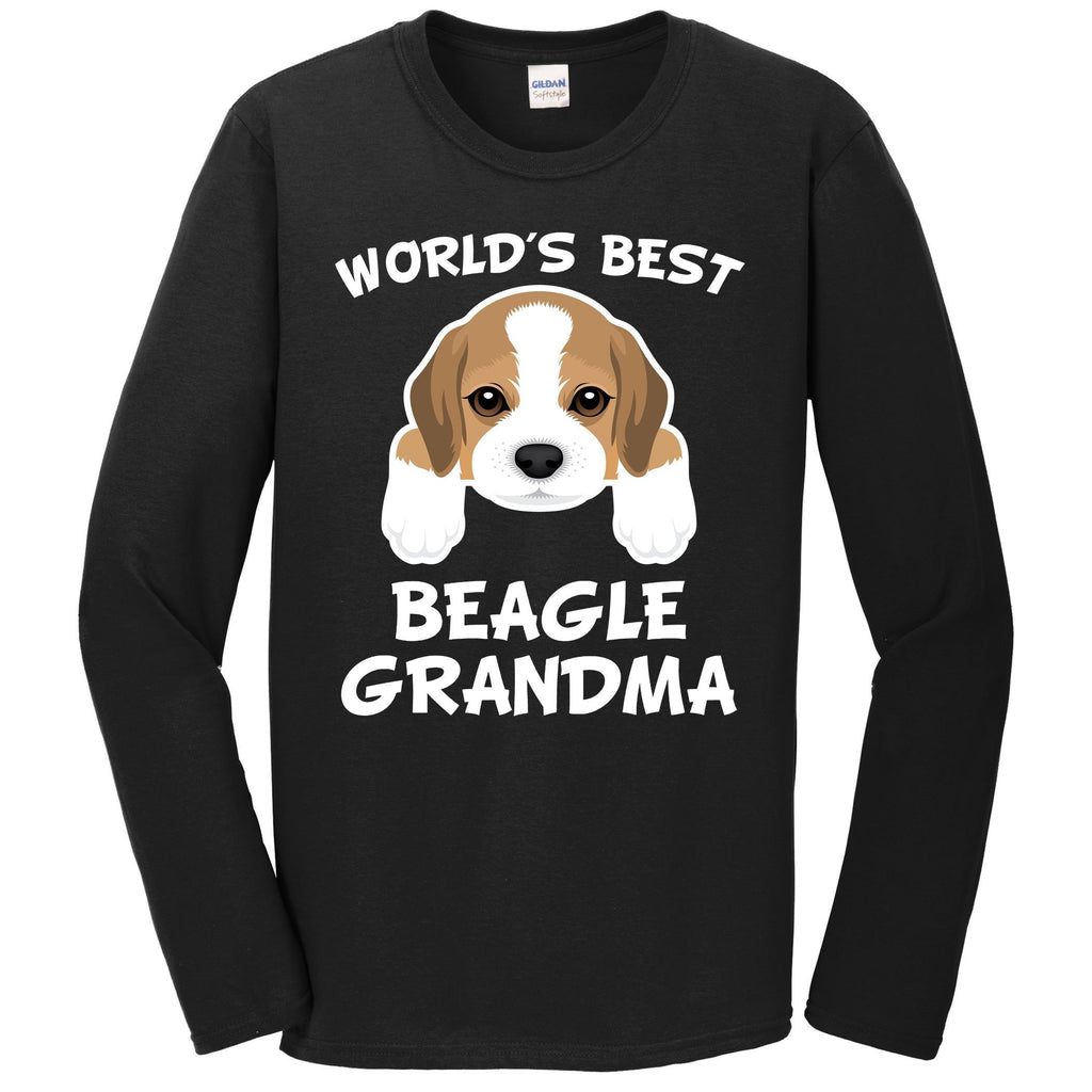 World's Best Beagle Grandma Dog Granddog Long Sleeve T-Shirt