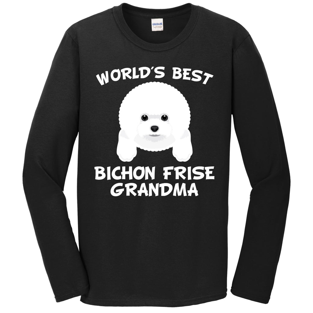 World's Best Bichon Frise Grandma Dog Granddog Long Sleeve T-Shirt