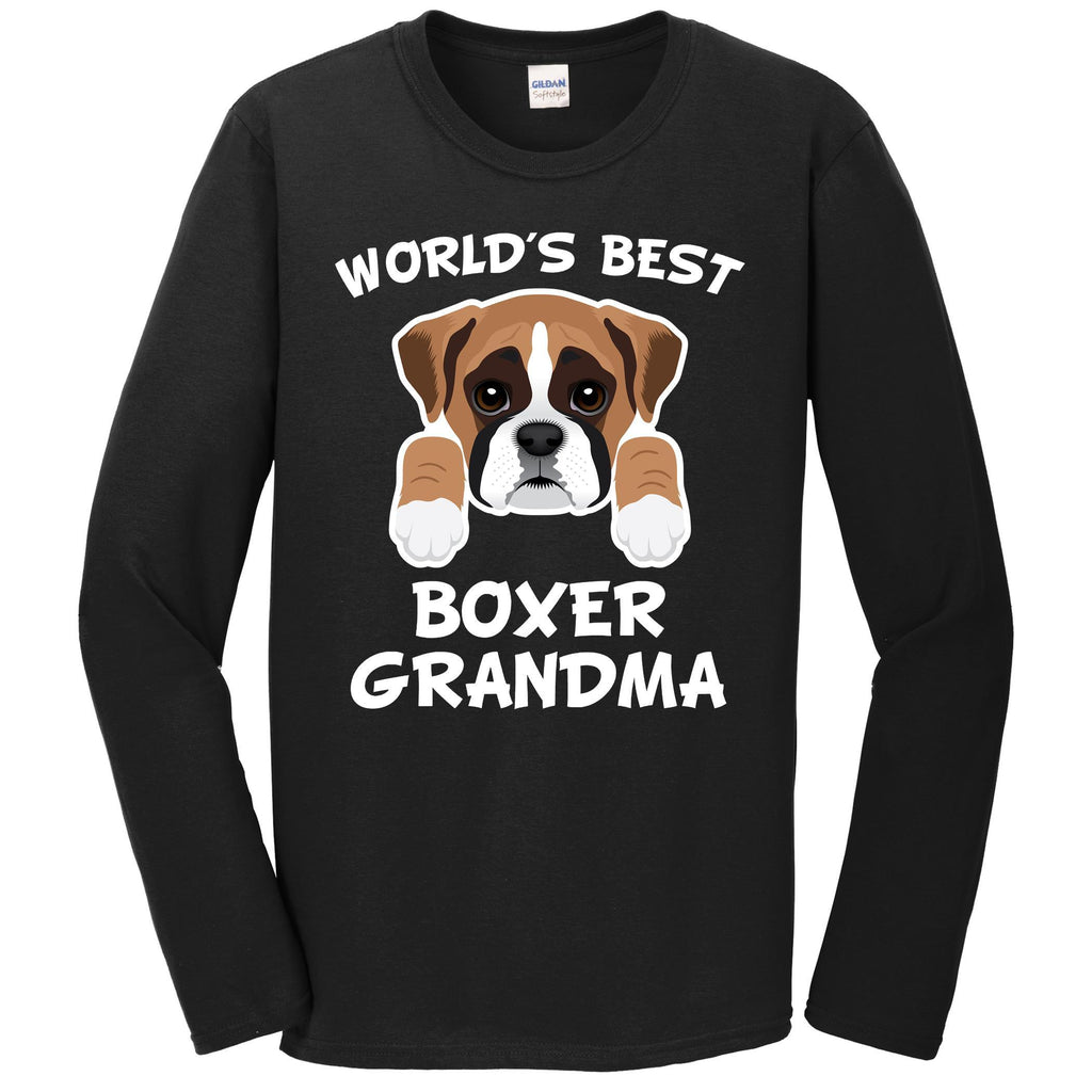 World's Best Boxer Grandma Dog Granddog Long Sleeve T-Shirt
