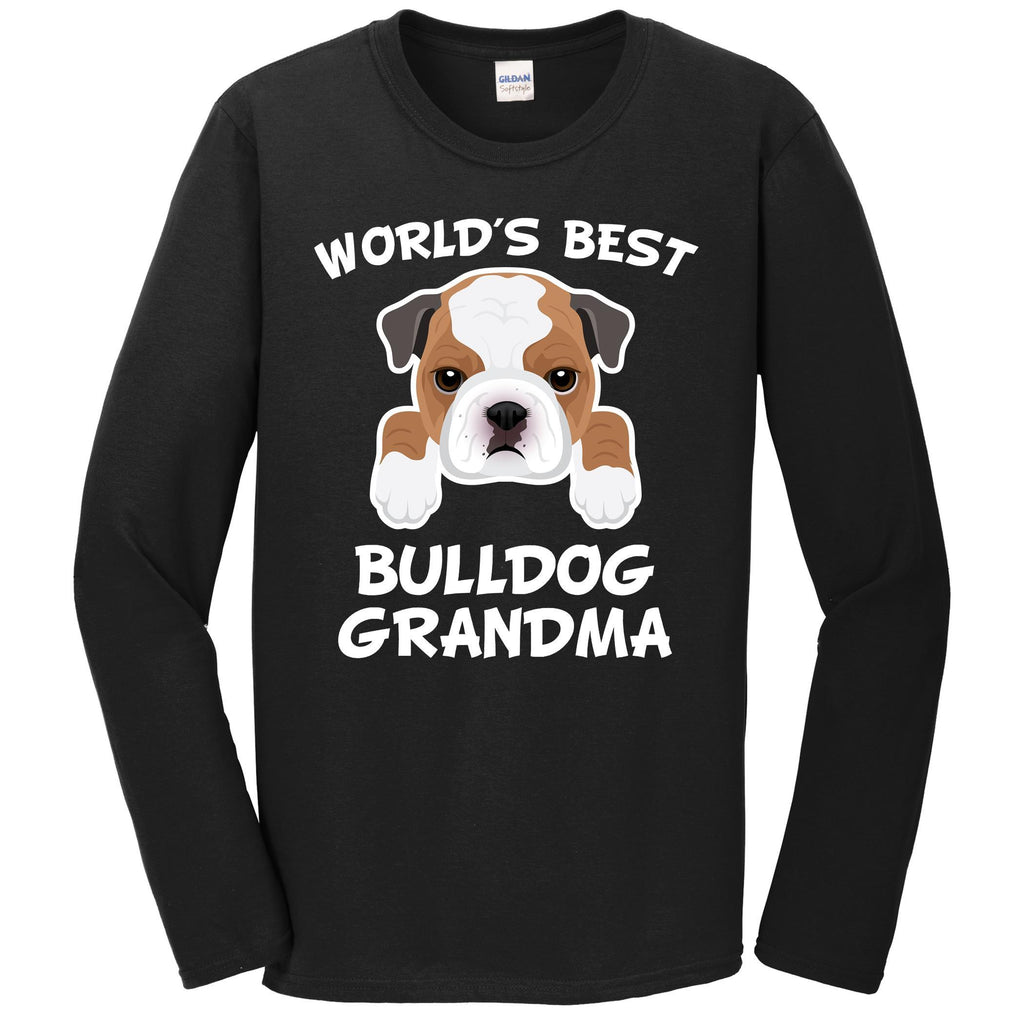 World's Best Bulldog Grandma Dog Granddog Long Sleeve T-Shirt