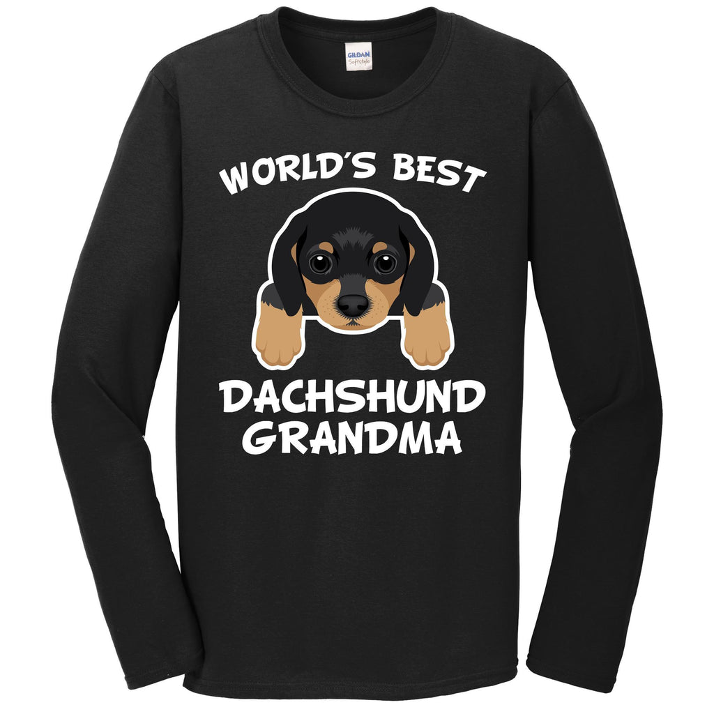 World's Best Dachshund Grandma Dog Granddog Long Sleeve T-Shirt