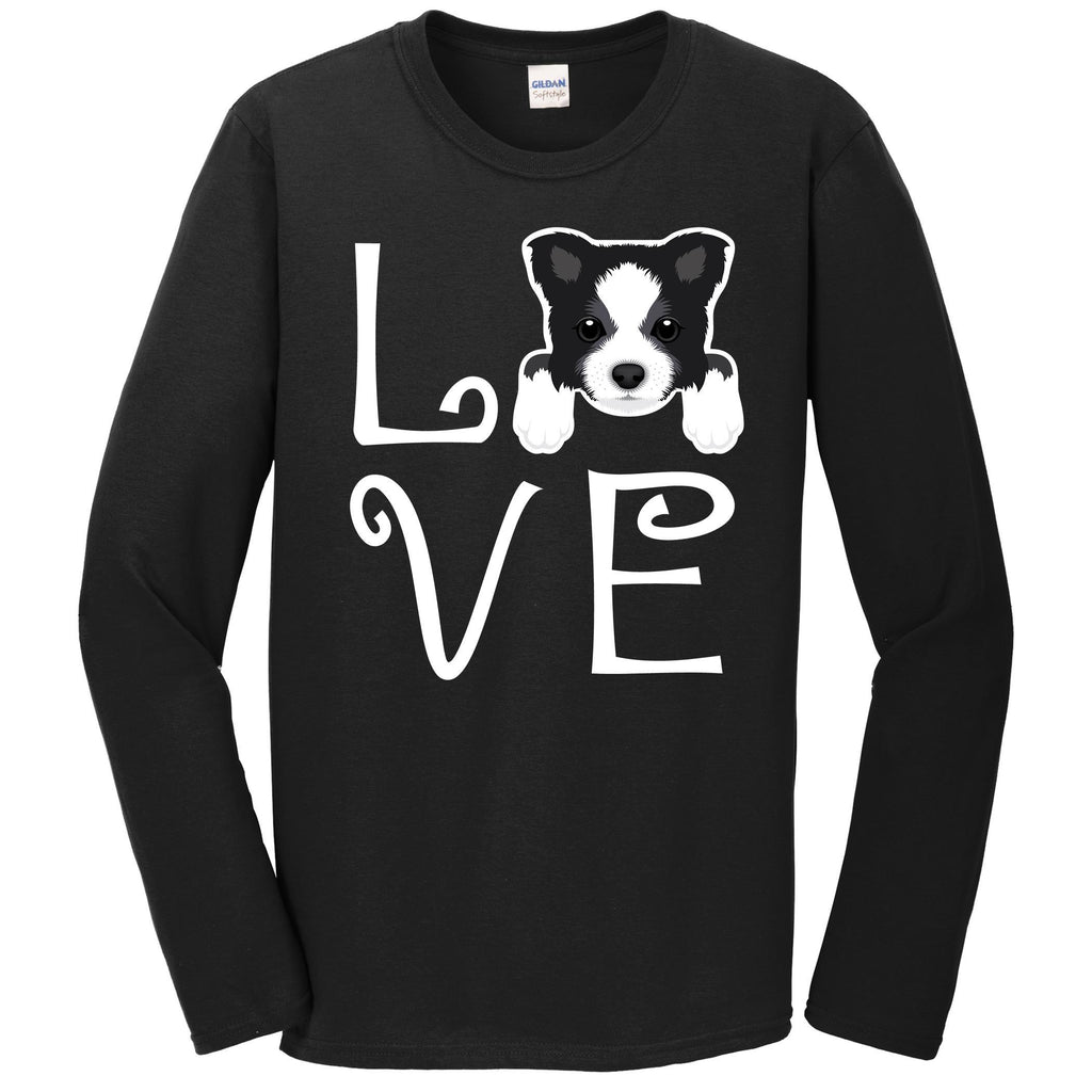 Border Collie Love Dog Owner Border Collie Puppy Long Sleeve T-Shirt