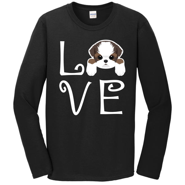 Shih Tzu Love Dog Owner Shih Tzu Puppy Long Sleeve T-Shirt