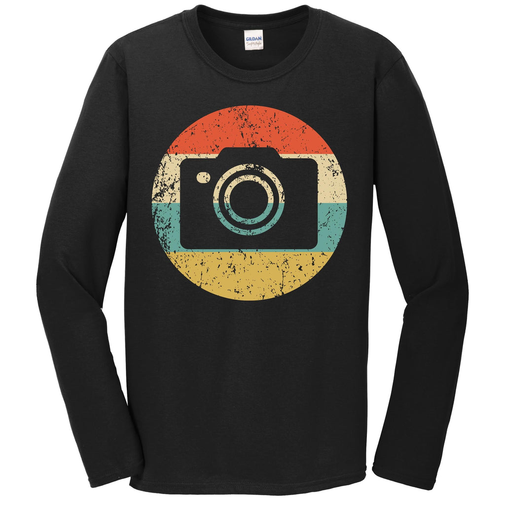 Photographer Shirt - Vintage Retro Camera Long Sleeve T-Shirt