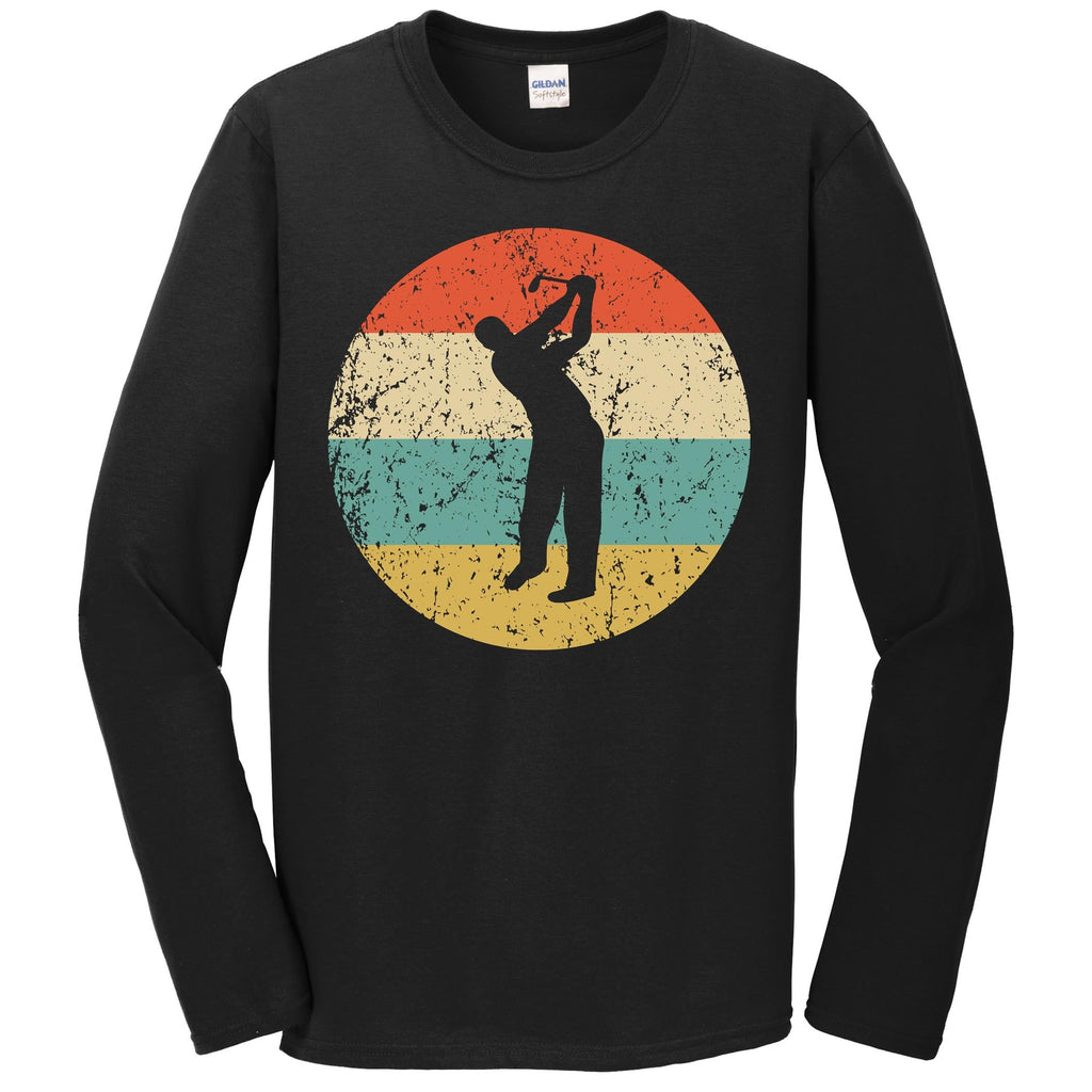 Golf Shirt - Vintage Retro Golfer Long Sleeve T-Shirt