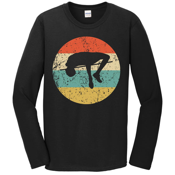 High Jump Shirt - Vintage Retro Track And Field Long Sleeve T-Shirt