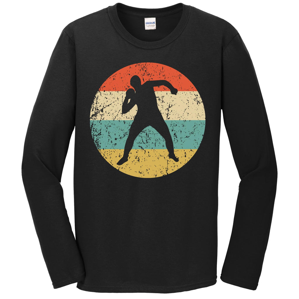 Shot Put Shirt - Vintage Retro Track And Field Long Sleeve T-Shirt