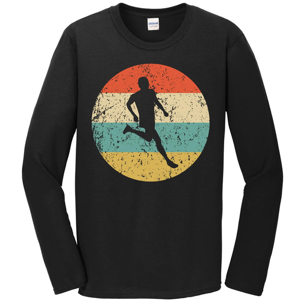 Running Shirt - Vintage Retro Runner Long Sleeve T-Shirt