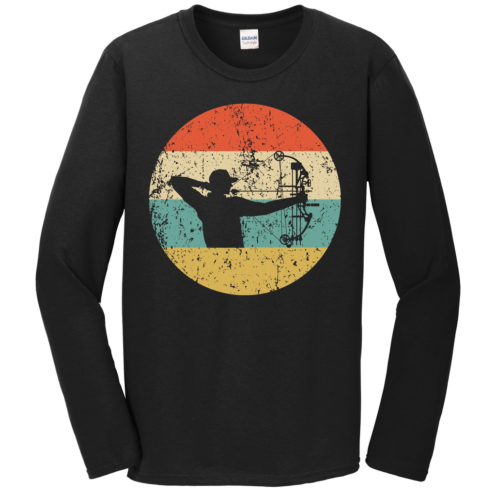 Bow Hunting Shirt - Vintage Retro Archery Long Sleeve T-Shirt