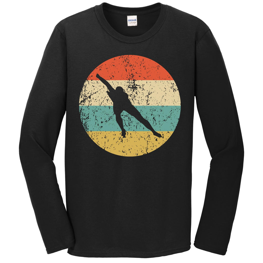 Speed Skating Shirt - Vintage Retro Speed Skater Long Sleeve T-Shirt