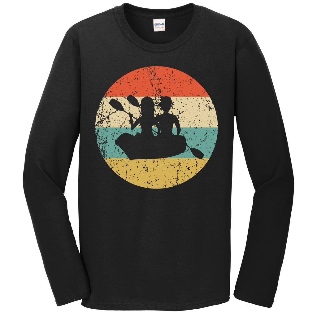 Canoeing Shirt - Vintage Retro Canoe Long Sleeve T-Shirt