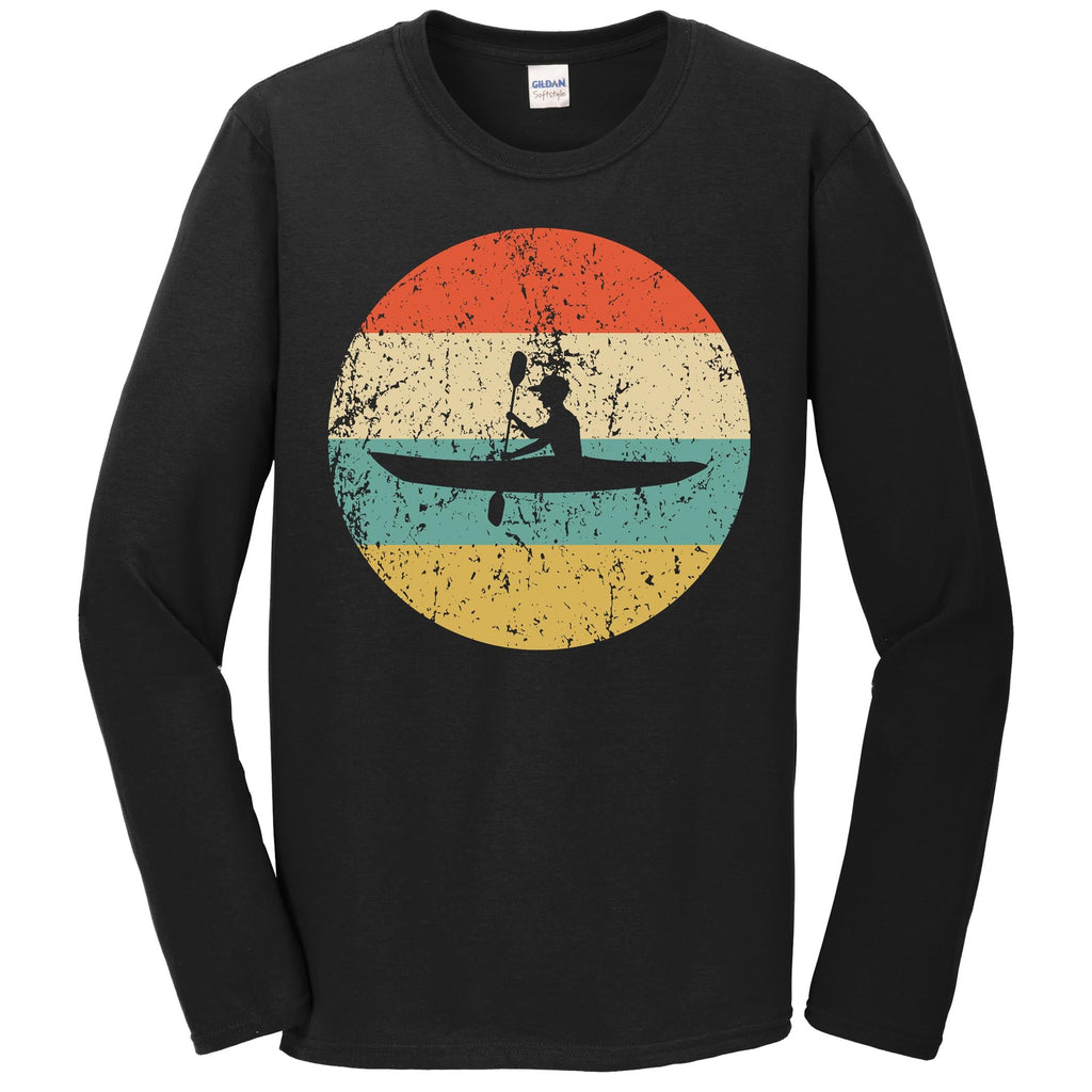 Kayaking Shirt - Vintage Retro Kayak Long Sleeve T-Shirt