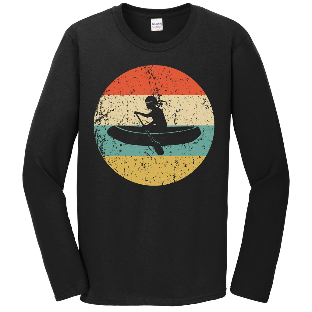White Water Rafting Shirt - Vintage Retro Rafter Long Sleeve T-Shirt