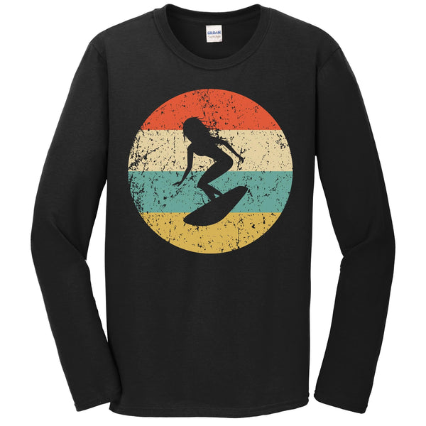 Surfing Shirt - Vintage Retro Surfer Long Sleeve T-Shirt