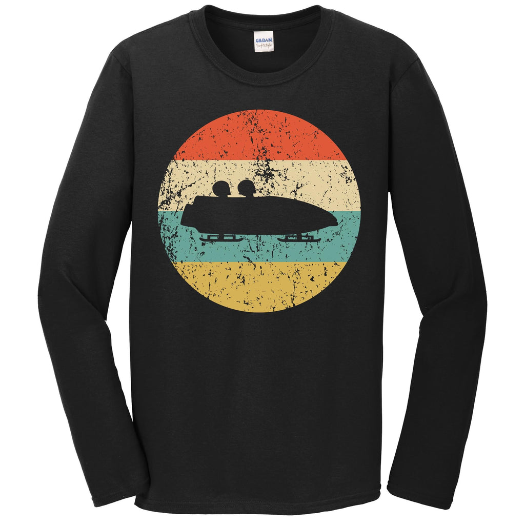 Bobsledding Shirt - Vintage Retro Bobsledder Long Sleeve T-Shirt