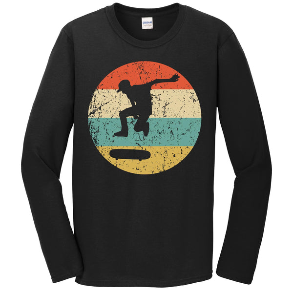 Skateboarding Shirt - Vintage Retro Skateboarder Long Sleeve T-Shirt