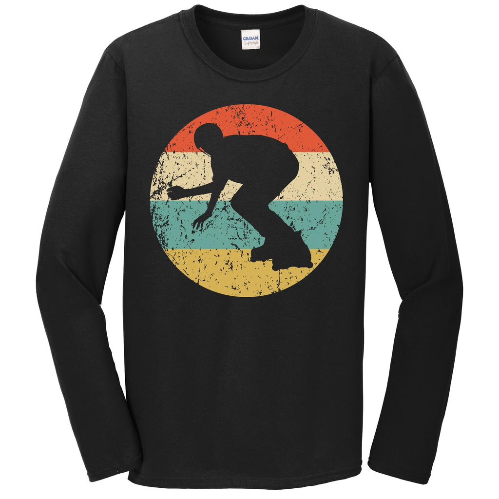 Inline Skating Shirt - Vintage Retro Skater Long Sleeve T-Shirt