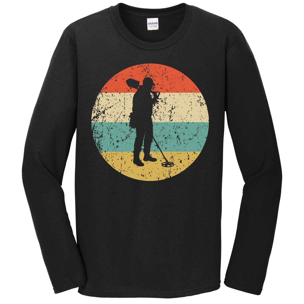 Metal Detecting Shirt - Vintage Retro Coinshooter Long Sleeve T-Shirt