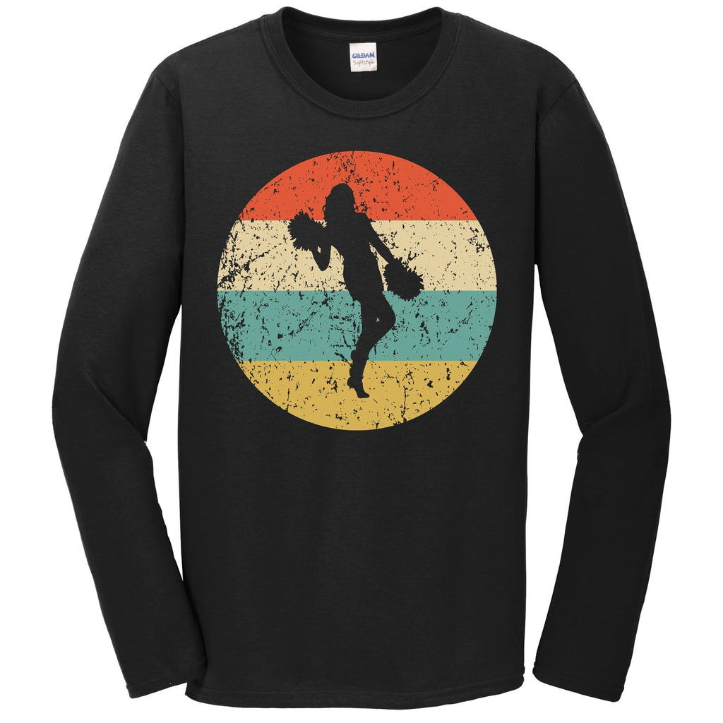 Cheerleading Shirt - Vintage Retro Cheerleader Long Sleeve T-Shirt
