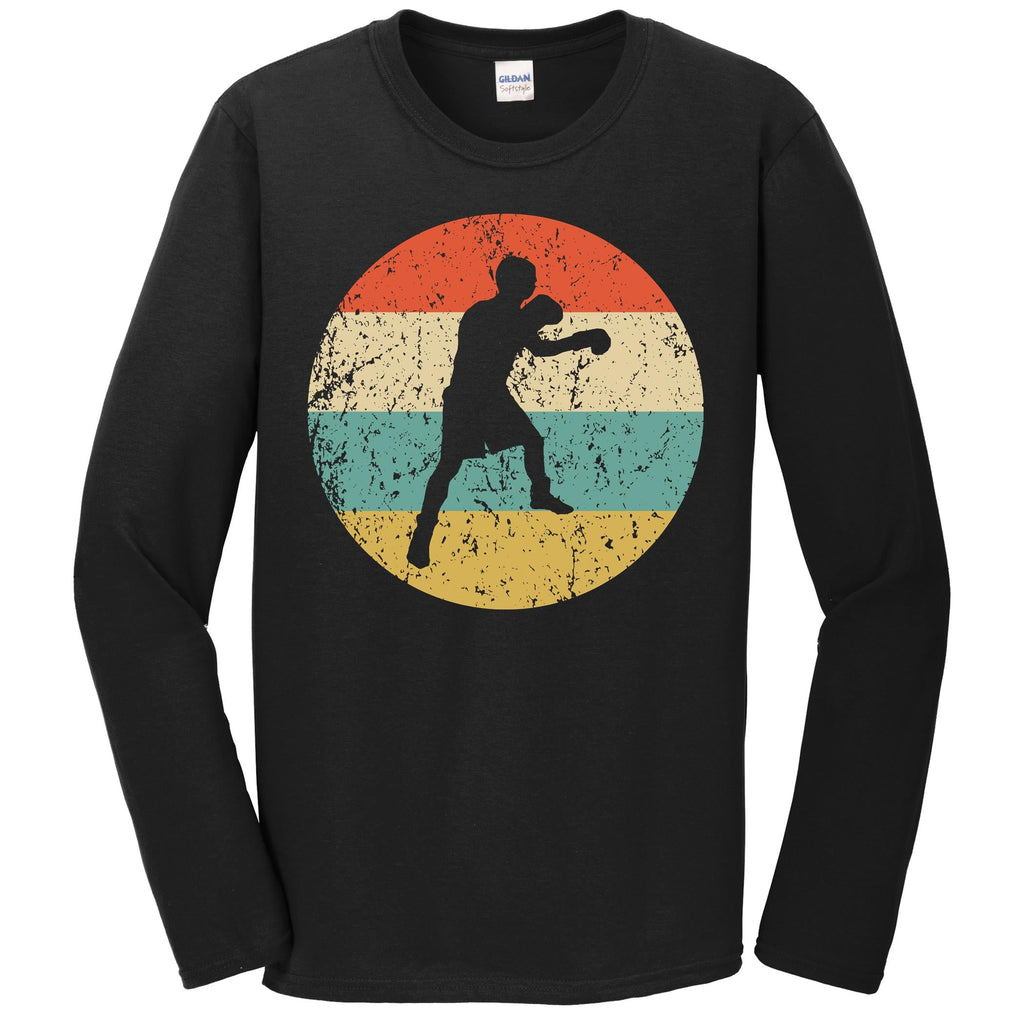 Boxing Shirt - Vintage Retro Boxer Long Sleeve T-Shirt