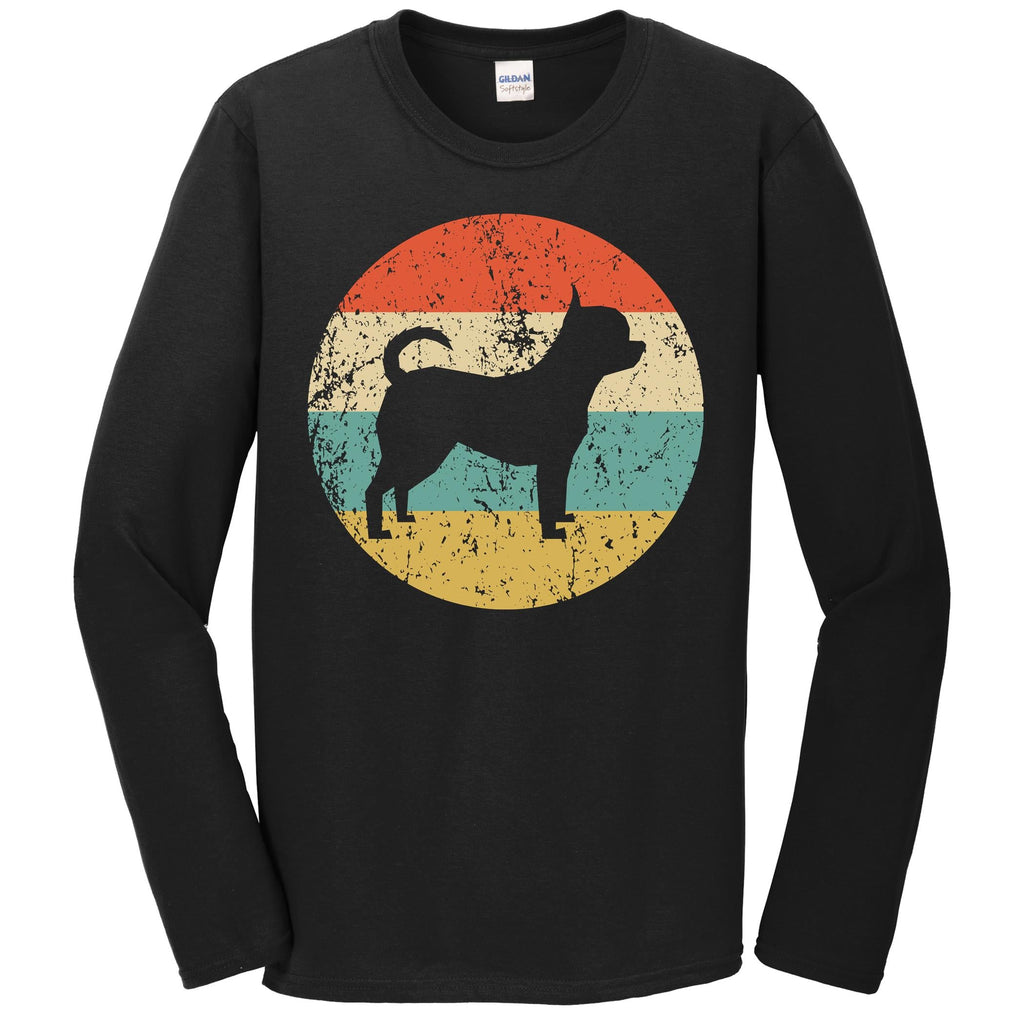 Chihuahua Shirt - Vintage Retro Chihuahua Dog Long Sleeve T-Shirt