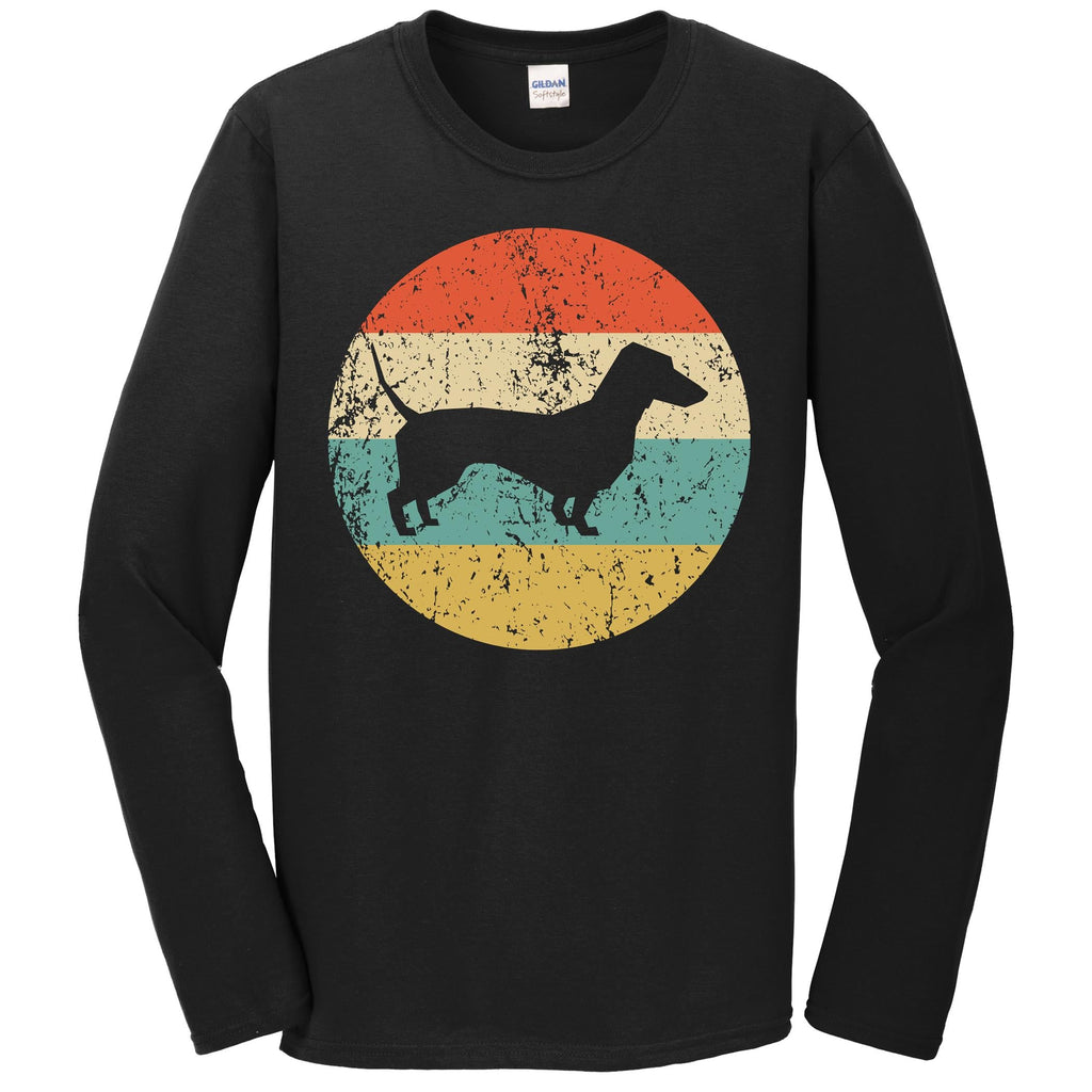 Dachshund Shirt - Vintage Retro Dachshund Dog Long Sleeve T-Shirt